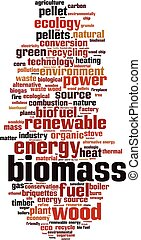 Biomass-vertical.eps - Biomass word cloud concept. Vector...