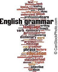 English grammar-vertical - English grammar word cloud...
