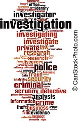 Investigation-verticaleps - Investigation word cloud concept...