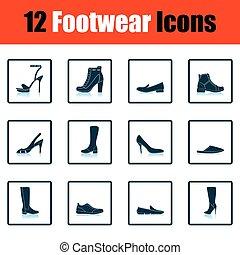 Set of footwear icons