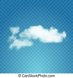 Realistic cloud on transparent background. Vector...
