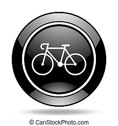 bicycle black glossy icon