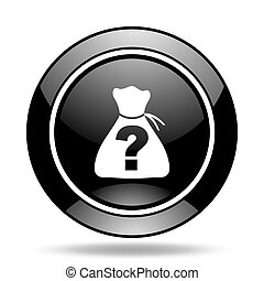 riddle black glossy icon