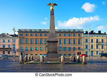 The Market Square in Helsinki, Finland