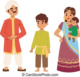 Vector illustration indian people - Vector illustration of...