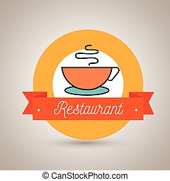 cup coffee restaurant icon vector illustration graphic