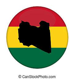 kaart, knoop, vlag,  rastafarian, libië