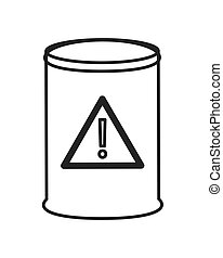 toxic waste barrel icon - flat design toxic waste barrel...
