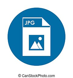 Jpg file icon - flat design Jpg file icon vector...
