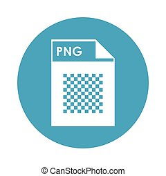 PNG file icon - flat design PNG file icon vector...
