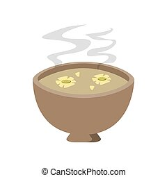 cup of tea with jasmine flowers icon - flat design cup of...