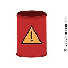toxic waste barrel icon
