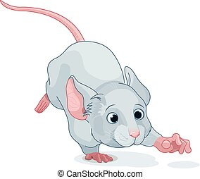 Wonderland Mouse - Illustration of cute Wonderland mouse is...