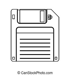 Floppy disk icon - flat design Floppy disk icon vector...