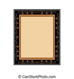 artistic frame icon - flat design artistic frame icon vector...