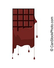 melting candy chocolate bar icon