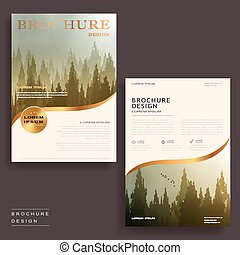 elegant brochure template - Elegant brochure template design...