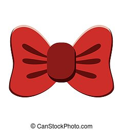 single bowtie icon - flat design single bowtie icon vector...