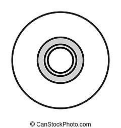 single cd icon - flat design single cd icon vector...