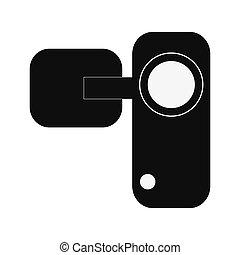 single videocamera icon - flat design single videocamera...