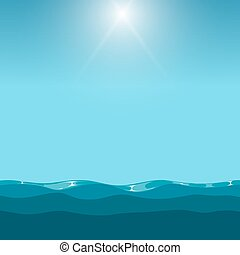 Clean blue sky over the ocean background