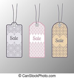 Price tags, label. Floral design