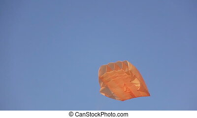 Stabilization parachute in sky - Supporting kite stabilizing...