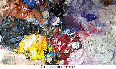 abstract color background from the old palette
