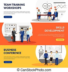 Business Training Consulting 3 Horizontal Banners - Business...