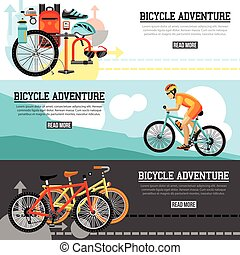 Biking Adventure Horizontal Banners - Biking adventure...