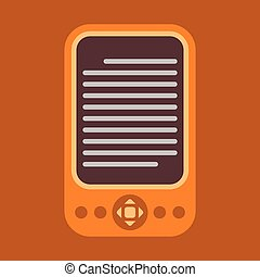 E-Reader Icon - E-reader colorful vector icon.