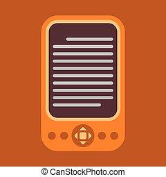 E-Reader Icon - E-reader colorful vector icon.
