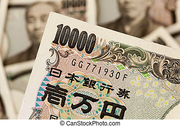 Yen notes from Japan - Japanese yen notes from Japan