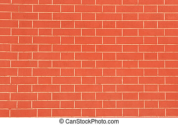 Brick Wall Background - A perfect red brick wall as a...