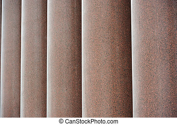 Row of Granite Columns - A row of massive red granite...