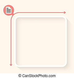White box to fill your text and document symbo