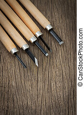 5 Pcs Wood Carving Carvers Working Chisel Hand Tool Set...
