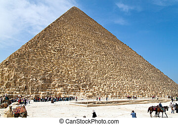 Egypt, Giza, Cheops pyramid - Highlight of a trip to Egypt...