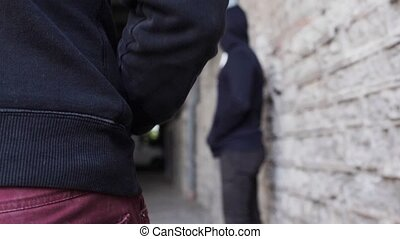 addict buying dose from drug dealer on street 14 - drug...