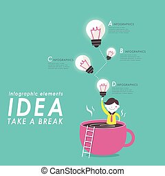 Creative thinking design - Creative thinking flat deisgn...