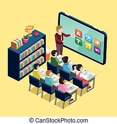Online education flat design - online education concept in...