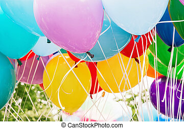 Balloons party, leisure activity, retro objects - Balloons...