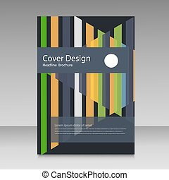 Abstract straight lines cover brochure.