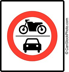 no motor vehicles sign in vector - no motor vehicles sign,...
