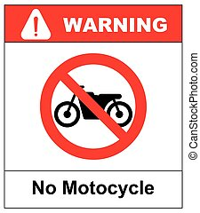 No motorcycle sign on white background.vector illustration -...