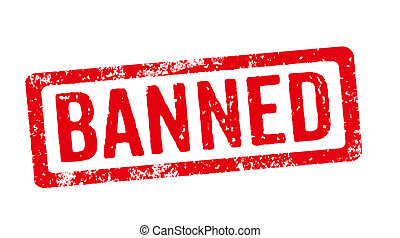 Red stamp on a white background - Banned