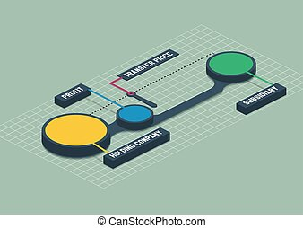 Colorful 3d isometric metaball round infographics - Colorful...