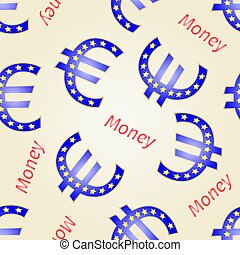Seamless texture Money- Euro European Union vector.eps
