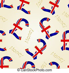 Seamless texture Money-The British Pound vectoreps -...