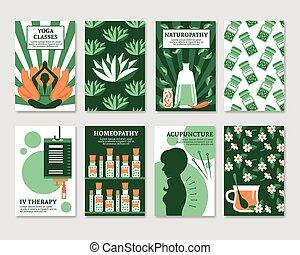 Alternative Medicine Cards Set - Alternative medicine cards...